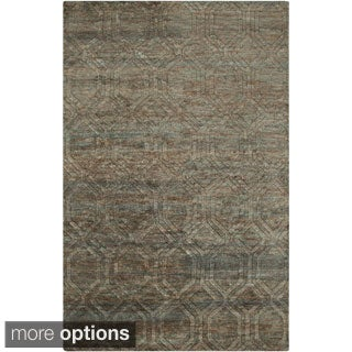 Hand-Knotted Sherri Abstract Pattern Jute Rug (8' x 11')