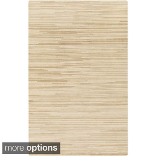 Hand-Knotted Simone Solid Pattern Wool Rug (8' x 11')