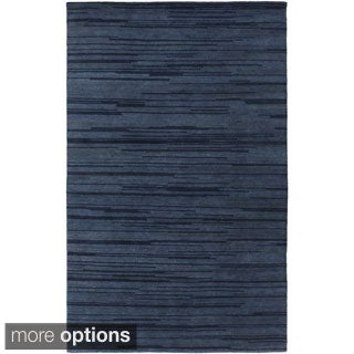 Hand-Knotted Simone Solid Pattern Wool Rug (5' x 8')