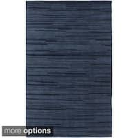 Hand-Knotted Simone Solid Pattern Wool Area Rug (5' x 8')