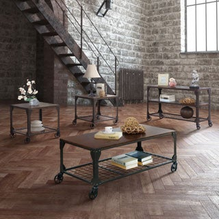 Furniture of America Karina Industrial Style 4-Piece Accent Table Set