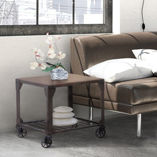 Furniture of America Karina Industrial Style End Table