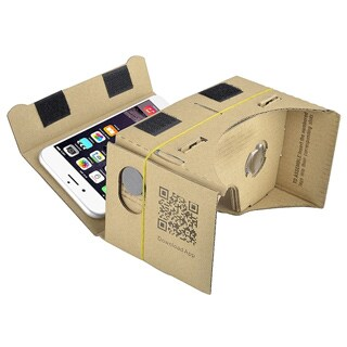 INSTEN Cardboard 3D DIY Virtual Reality VR Glasses with Headband for Phone Displays up to 5.1 inches