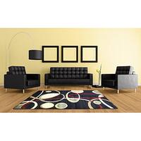 "LYKE Home Rosalie Contemporary Black Area Rug - 7'10"" x 10'2"""