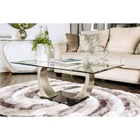 Furniture of America Carmella Modern Satin Plated Coffee Table