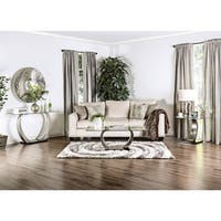 Furniture of America Carmella Modern 3-Piece Accent Table Set - Silver