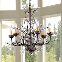 Kinsley Wonderland 6-light Crystal/ Bronze Chandelier