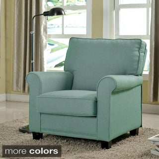 Havenside Home Ossabaw Padded Linen Arm Chair