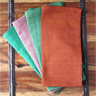 Set of 4 Garden Hand-woven Napkins (India)