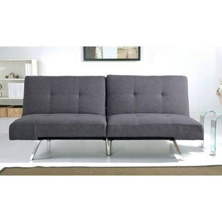 Abbyson Aspen Grey Fabric Foldable Futon Sleeper Sofa Bed