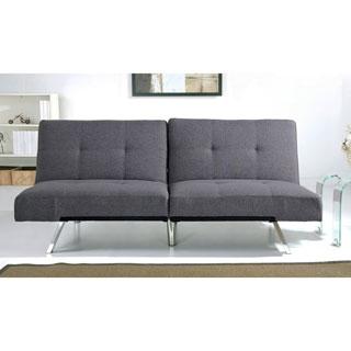 Abbyson Aspen Grey Fabric Foldable Futon Sleeper Sofa Bed