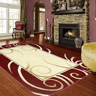 LYKE Home Audrey Red Area Rug - 8' x 11'
