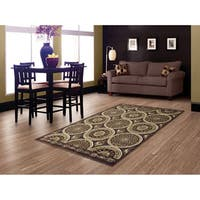 LYKE Home Hazel Brown Area Rug (8' x 11')