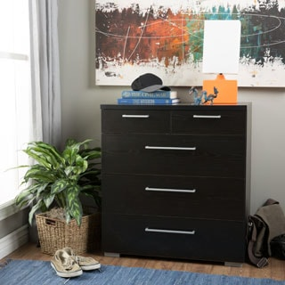 Aria 5-drawer Wooden Oak Chest
