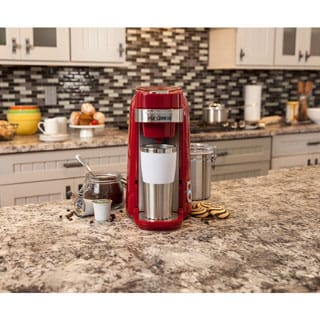 Hamilton Beach Red FlexBrew Single-Serve Plus Coffee Maker