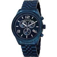 Akribos XXIV Men's Swiss Quartz Chronograph Stainless Steel Blue Bracelet Watch