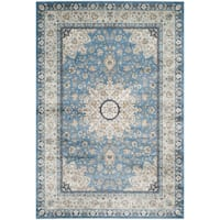 Safavieh Persian Garden Multi/ Navy Viscose Rug - 6'7 x 9'2