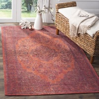 Safavieh Classic Vintage Overdyed Red Cotton Distressed Rug (4' x 6')