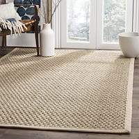 Safavieh Casual Natural Fiber Natural and Beige Border Seagrass Rug (4' Square)