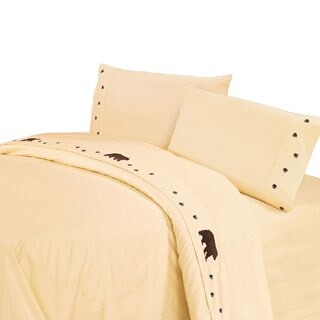 HiEnd Accents Embroidered Bear Sheet Set