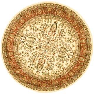 Safavieh Lyndhurst Traditional Oriental Ivory/ Rust Rug (10' Round)
