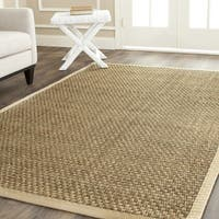 Safavieh Casual Natural Fiber Natural and Beige Border Seagrass Rug - 10' square