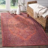 Safavieh Classic Vintage Overdyed Red Cotton Distressed Rug (8' x 11')