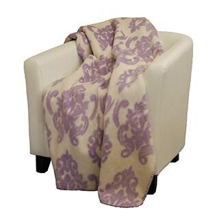 Denali Medallion soft purple Micro-plush Throw Blanket