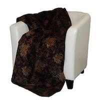 Denali Pine Trail chocolate Micro-plush Throw Blanket