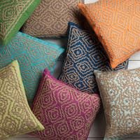 Surya Beth Lacefield Lynch 18-inch Decorative Geometric Throw Pillow