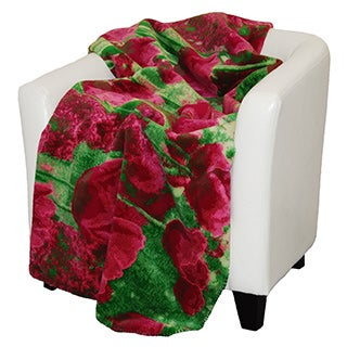 Denali Tulips magenta Micro-plush Throw Blanket