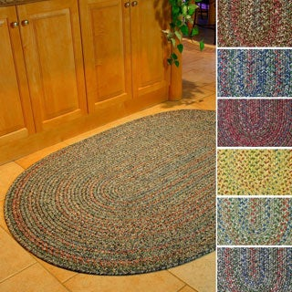 Rhody Rug Sophia Indoor/ Outdoor Braided Reversible Area Rug (7' x 9') - 7' x 9'