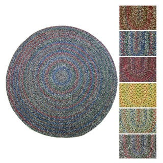 Rhody Rug Sophia Indoor/ Outdoor Braided Reversible Round Rug (6' x 6')