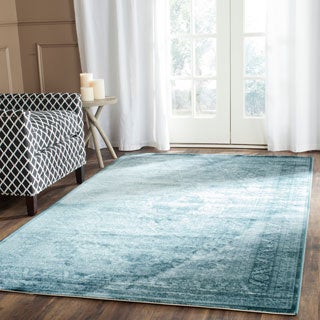 Safavieh Vintage Oriental Light Blue Dark Distressed Silky Viscose Rug 8 X