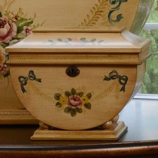 Life Chest Colonial Small Hand-painted Victorian Floral Hope Chest