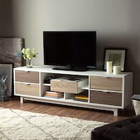 Furniture of America Dekisa Contemporary Mid-century Style Two-tone TV Stand