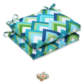 Pillow Perfect Outdoor Resort Squared Corners Seat Cushion (Set of 2)