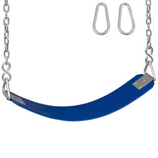 Swing Set Stuff Commercial Rubber Belt Seat with 5.5ft Chains and Hooks