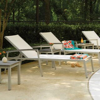 Piscine White Chaise Lounge (Set of 2)