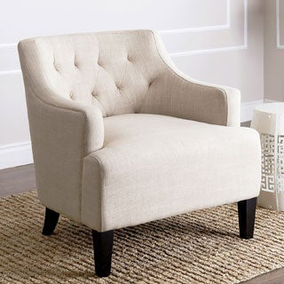 ABBYSON LIVING Davis Cream Fabric Armchair
