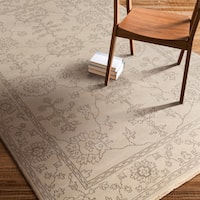 Hand-Knotted Deanna Floral New Zealand Wool Area Rug - 5'6 x 8'6'