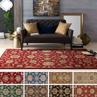 Hand-Tufted Calne Floral Wool Rug (7'6 x 9'6) - 7'6 x 9'6