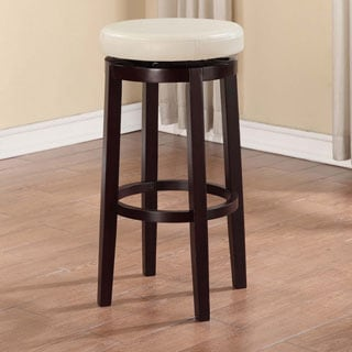 Linon Dorothy Backless Bar Stool Off-white Swivel Seat