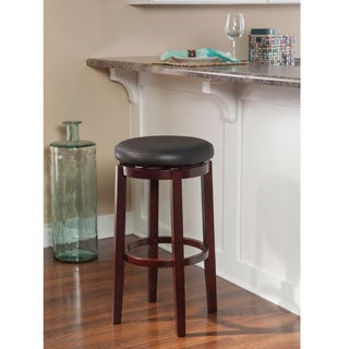 Linon Dorothy Backless Bar Stool Black Swivel Seat