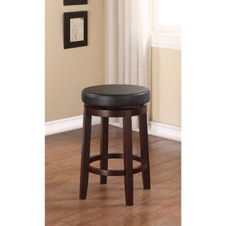 Linon Dorothy Backless Counter Stool Black Swivel Seat