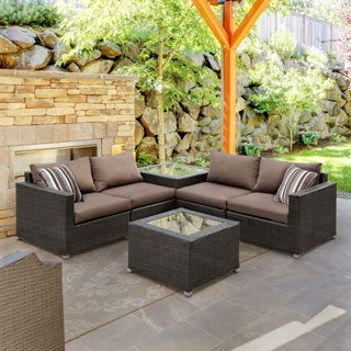 Furniture of America Stella 4-Piece Outdoor Sofa Set