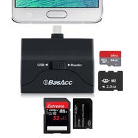 BasAcc Micro USB 2-in-1 OTG/ MicroSD Memory Stick Card Reader Flash Drive Adapter for Samsung Galaxy S6/ Edge