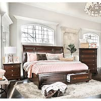 Gracewood Hollow Yep Cherry Finish Solid Wood 3-piece Bedroom Set