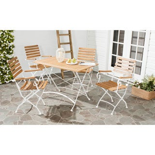 Safavieh Lawndale Teak Brown Outdoor Dining Set