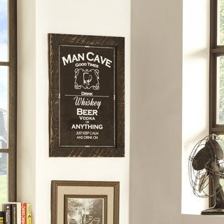 Rustic 'Good Times Man Cave' Framed Giclee Print Wall Decor